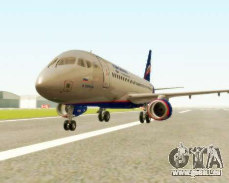 Sukhoi Superjet 100-95 Aeroflot pour GTA San Andreas