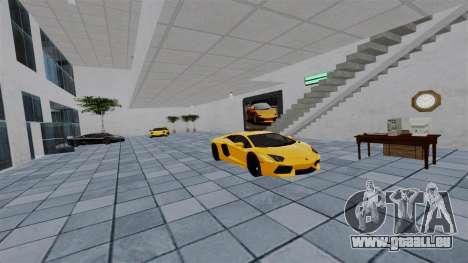 Salon de l'automobile Lamborghini pour GTA 4 cinquième écran
