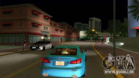 Lexus IS-F pour une vue GTA Vice City de la droite