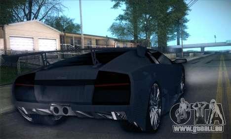 Lamborghini Murcielago GT Carbone pour GTA San Andreas vue de dessous