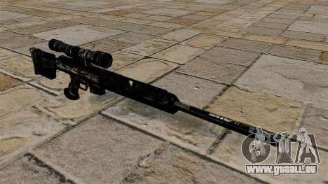 Fusil de sniper en uniformes de camouflage bleu  pour GTA 4