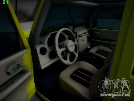 Jeep Wrangler Unlimited 2007 für GTA San Andreas Rückansicht
