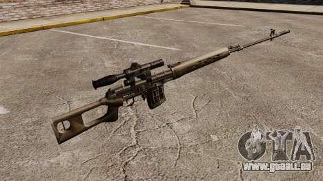 Dragunov Scharfschütze-Gewehr-v2 für GTA 4 Sekunden Bildschirm