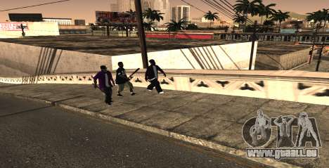 HQ SkinPack Ballas pour GTA San Andreas deuxième écran