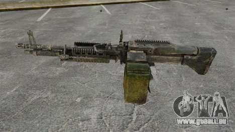 Mitrailleuse polyvalente M60E4 pour GTA 4 troisième écran