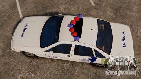 Chevrolet Caprice Police 1991 v2.0 N.o.o.s.e pour GTA 4 est un droit