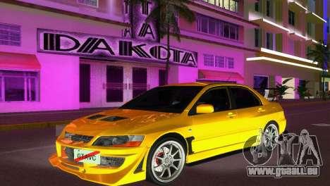 Mitsubishi Lancer Evolution VIII Type 8 pour GTA Vice City