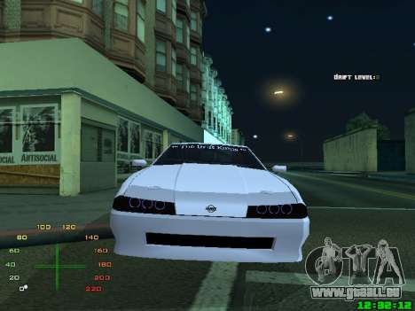 Elegy TDK-The Drift Kings pour GTA San Andreas sur la vue arrière gauche