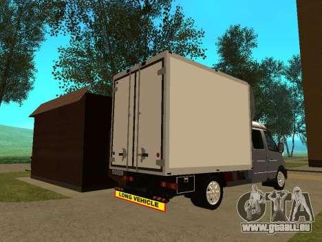 Business 33023 gazelle pour GTA San Andreas vue de droite
