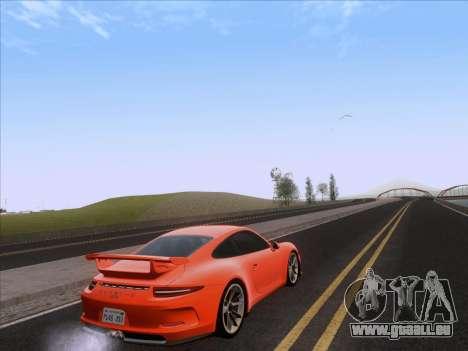 Porsche 911 GT3 2014 pour GTA San Andreas sur la vue arrière gauche