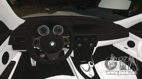 BMW M3 E92 2008 pour GTA 4 Vue arrière