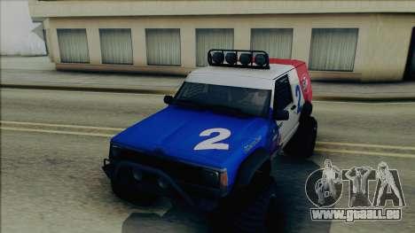 Jeep Cherokee 1984 Sandking pour GTA San Andreas vue de côté