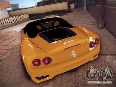 Ferrari 360 Spider pour GTA San Andreas vue de droite