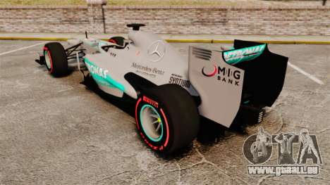 Mercedes AMG F1 W04 v6 für GTA 4 hinten links Ansicht