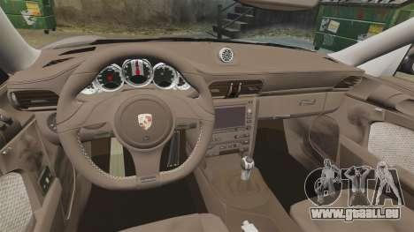 Porsche 911 Sport Classic 2010 pour GTA 4 Vue arrière