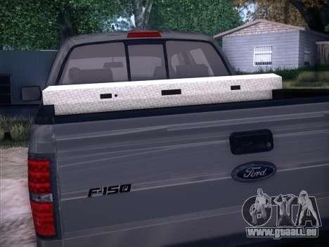 Ford F-150 ST Trim 2010 pour GTA San Andreas sur la vue arrière gauche