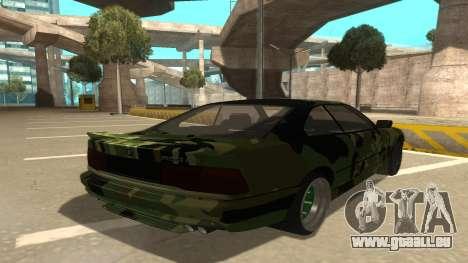 BMW 850CSi 1996 Military Version pour GTA San Andreas vue de droite