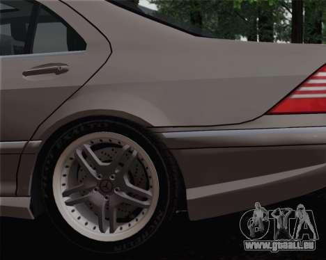 Mercedes-Benz AMG S65 2004 für GTA San Andreas zurück linke Ansicht