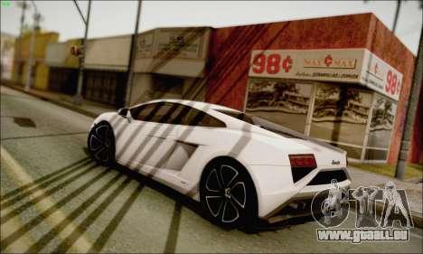 Lamborghini Gallardo LP560-4 2013 pour GTA San Andreas laissé vue