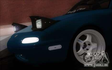 Mazda Miata pour GTA San Andreas sur la vue arrière gauche