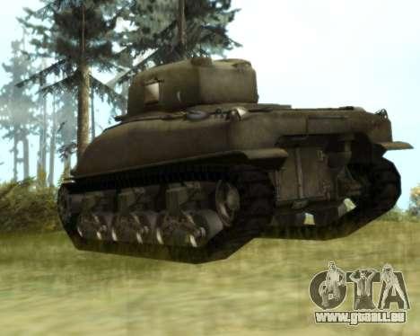 M4 Sherman pour GTA San Andreas vue de droite