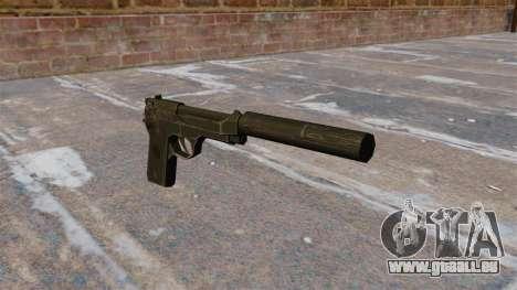 M9 pistolet Self-loading avec silencieux pour GTA 4