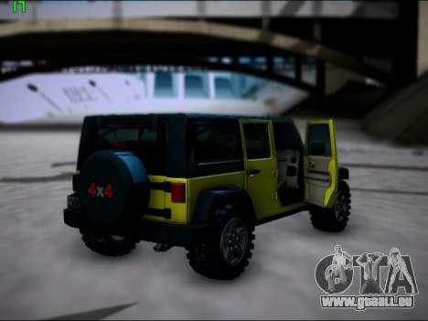Jeep Wrangler Unlimited 2007 für GTA San Andreas rechten Ansicht