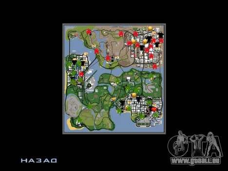 Neue Motorhaube und Symbole auf der Karte für GTA San Andreas