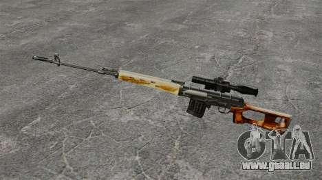 Dragunov sniper rifle v1 pour GTA 4 troisième écran