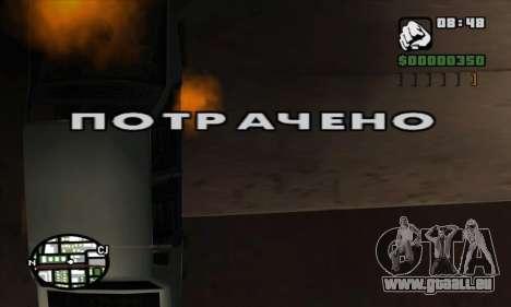 Crack usé (FARGUS) pour GTA San Andreas troisième écran
