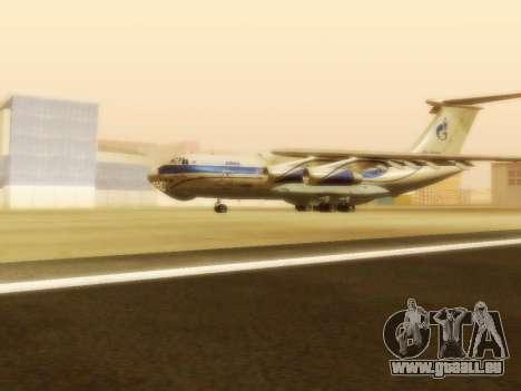 Gazpromavia il-76td pour GTA San Andreas laissé vue