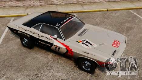 Dodge Challenger 1971 v2 pour GTA 4 est une vue de dessous