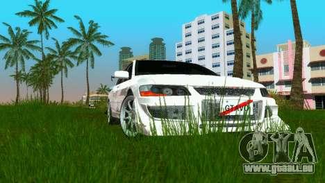 Mitsubishi Lancer Evolution VIII Type 8 pour GTA Vice City vue arrière