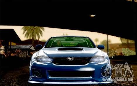 Subaru Impreza WRX STi 2011 pour GTA San Andreas vue intérieure