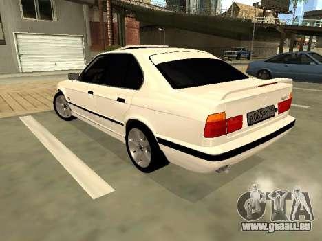 BMW 525 E34 pour GTA San Andreas laissé vue