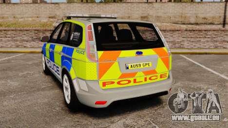 Ford Focus Estate Norfolk Constabulary [ELS] für GTA 4 hinten links Ansicht