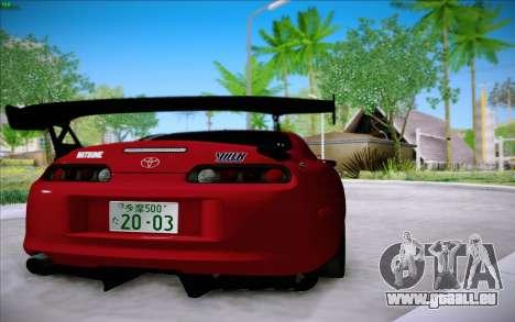 Toyota Supra RZ 1998 Drift für GTA San Andreas zurück linke Ansicht