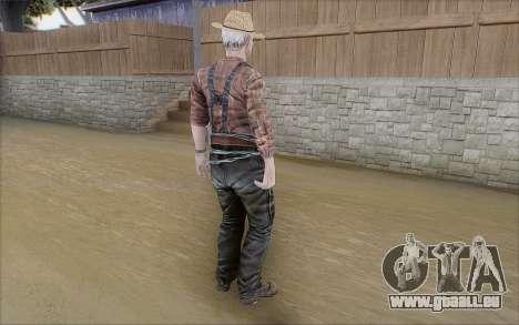 Agriculteur pour GTA San Andreas troisième écran