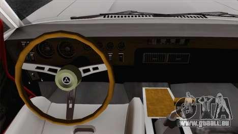 Dodge Charger 6o pour GTA San Andreas sur la vue arrière gauche