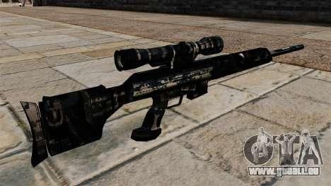 Fusil de sniper en uniformes de camouflage bleu  pour GTA 4 secondes d'écran