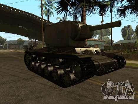 KV-2 pour GTA San Andreas laissé vue