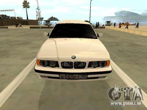 BMW 525 E34 pour GTA San Andreas vue arrière