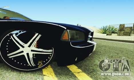 Dodge Charger DUB pour GTA San Andreas vue de dessus