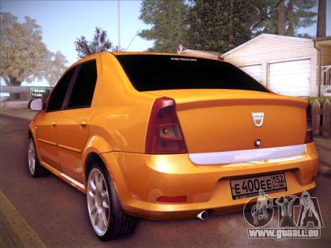 Dacia Logan GrayEdit für GTA San Andreas Rückansicht