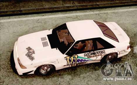 Ford Mustang SVT Cobra 1993 Drift für GTA San Andreas Innenansicht