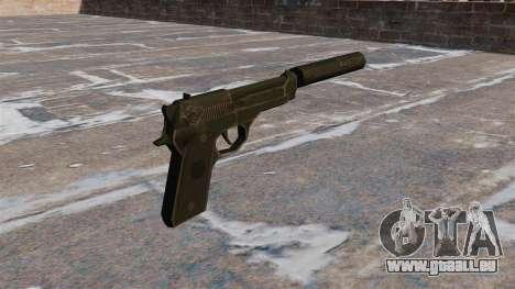 M9 pistolet Self-loading avec silencieux pour GTA 4 secondes d'écran