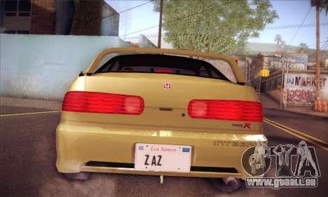 Honda Integra Drift pour GTA San Andreas vue arrière