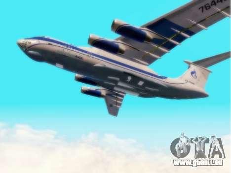 Gazpromavia il-76td pour GTA San Andreas vue arrière