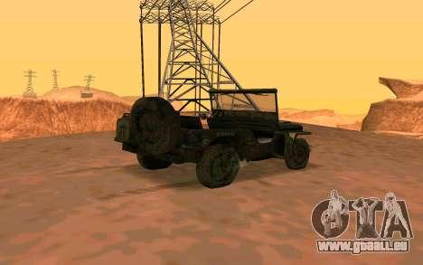 Ju2 v Willys MB pour GTA San Andreas laissé vue