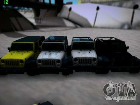 Jeep Wrangler Unlimited 2007 für GTA San Andreas zurück linke Ansicht